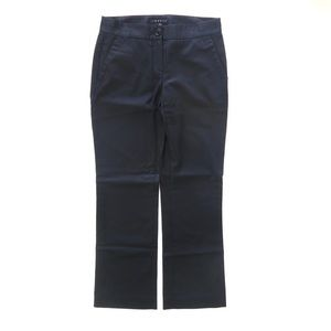 Theory Straight Leg Coated Black Pants